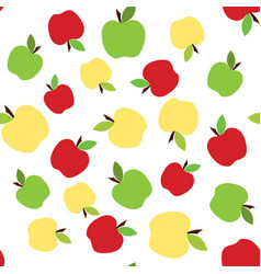 colorful apple pattern vector image