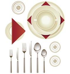 Dinnerware vector image vector image