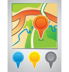 road map markers vector image vector image