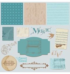 scrapbook design elements vector image