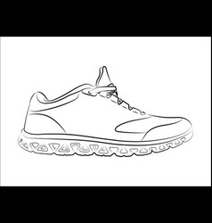 sketch doodle sneakers for your creativity vector image