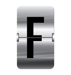 Alphabet silver flipboard letters f vector image vector image