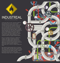 industrial piping background vector image vector image
