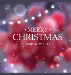 merry christmas christmas decoration blur the vector image