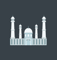 muslim mosque in a flat style vector image