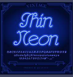 131 neon font b vector