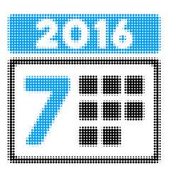 2016 week calendar halftone icon vector image