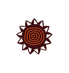 Aboriginal art logo design vector