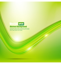 Abstract background Ligth green curve and wave vector image