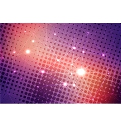 Abstract colorful background with stars vector image