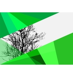 Abstract images of nature tree brochure booklet vector