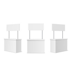 Advertising stands realistic blank modern simple vector