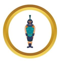 Ancient Egyptian warrior icon vector
