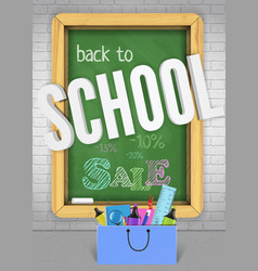 back to school colorful chalkboard banner concept vector image