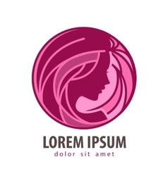 Beauty salon logo design template cosmetic vector