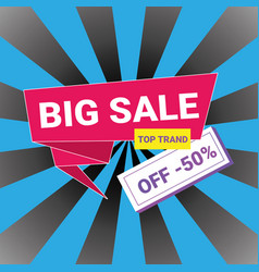 big sale banner template design promotion 50 off vector image