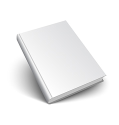 Blank book on white vector