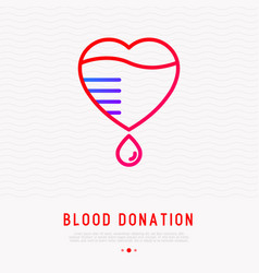 blood donation concept blood bag with drop vector image