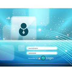 blue login page vector image