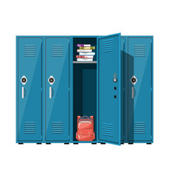 blue metal cabinets vector image