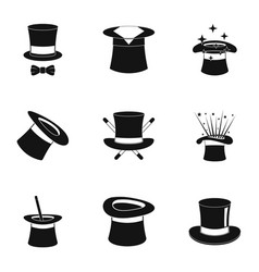 Bonnet icons set simple style vector