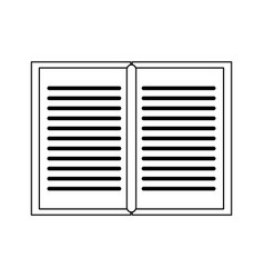 book open symbol isolated black and white vector image