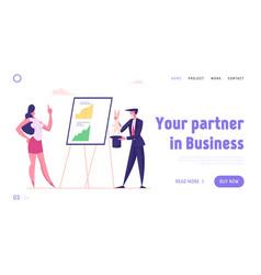 Business magic landing page template businessman vector