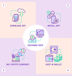 buying cryptocurrency concept vector image