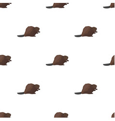 canadian beaver canada single icon in cartoon vector image