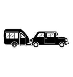Car camp trailer icon simple style vector