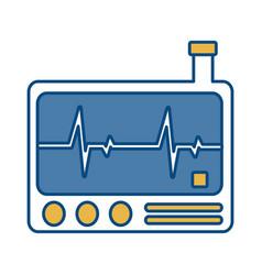 Cardiac monitor device icon vector