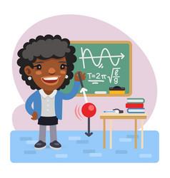 Cartoon physics teacher vector
