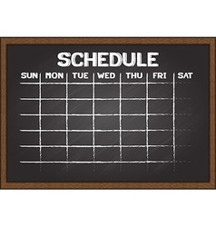 Chalkboard schedule document template vector