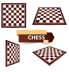 chess template four items game board vector image