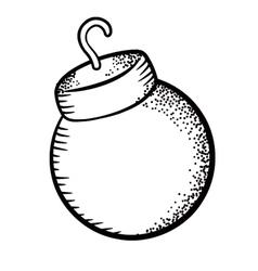Christmas ball doodle vector image