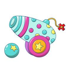 circus gun icon cartoon style vector image