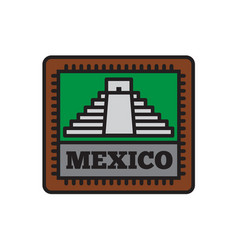 country badge collections mexico symbol of big vector image