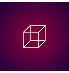cube icon concept for design vector image