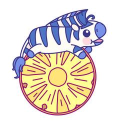 cute bastriped zebra vector image