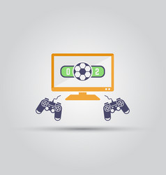 Cybersport soccer tournament isolated icon vector