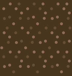dark chocolate background polka dots seamless vector image