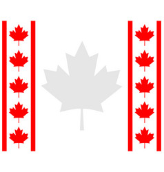 Decorative canadian frame with red maple vector