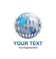 Digital sphere abstract logo design template vector