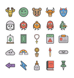 Emoticons icons pack vector