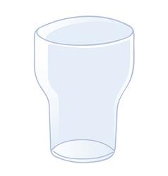 Empty glass vector image