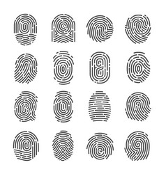 fingerprint icon set vector image