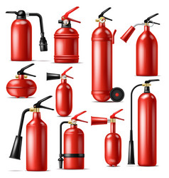 fire extinguisher protection to extinguish vector image