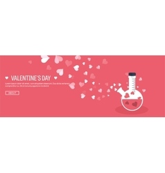 Flat background with potion vector