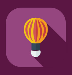 Flat modern design with shadow icons balloon vector