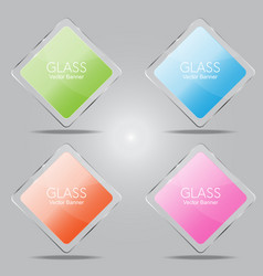 glass banner vector image